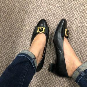 Chunky heel black pumps - vintage